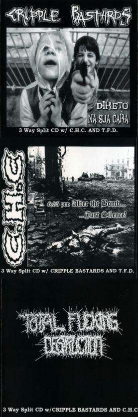 Total Fucking Destruction / Cripple Bastards - A 3 Way of Terror