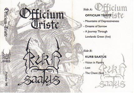 Officium Triste / Kurb Saatus - Promo '96