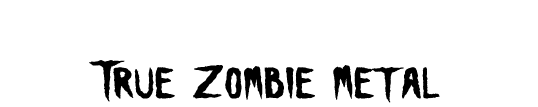 Recently Vacated Graves: True Zombie Metal - Logo