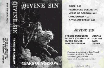 Divine Sin - Years of Sorrow