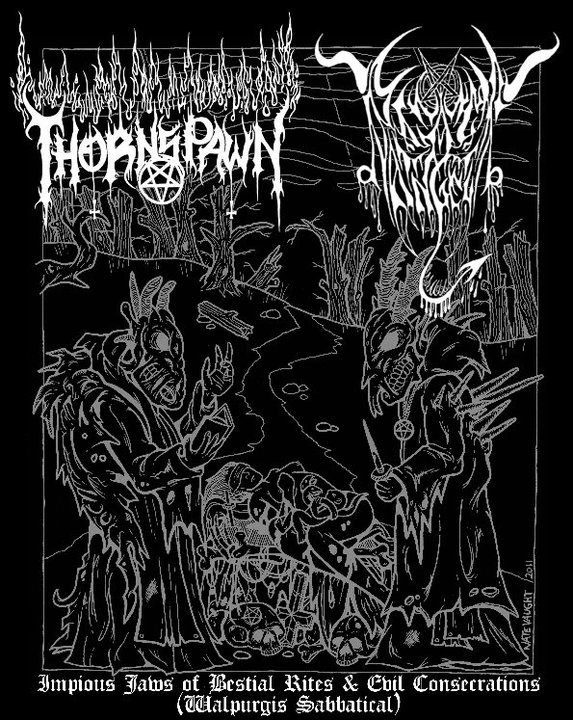 Thornspawn / Black Angel - Impious Jaws of Bestial Rites and Evil Consecrations