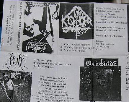 Inkisitor / Kult / Christicide - Ultra Intense Hellnoize Deflagration