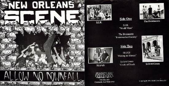 Soilent Green / The Slugs / S.I.K. - New Orleans Scene: Allow No Downfall