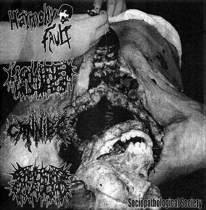 Harmony Fault / Cannibe / Necrobiose Escrotal - Sociopathological Society