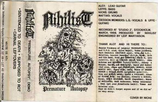 Nihilist - Premature Autopsy