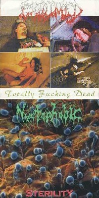 Exhumed / Nyctophobic - Totally Fucking Dead / Sterility