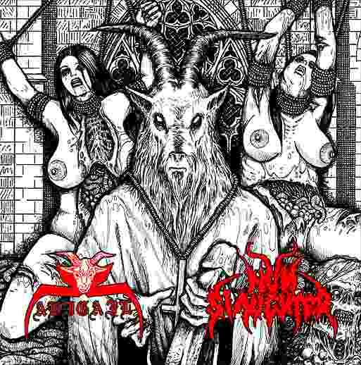 Nunslaughter / Abigail - Fucking Satan
