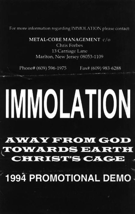 Immolation - 1994 Promotional Demo