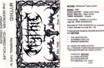 Mythic - Rehearsal Tape 1991