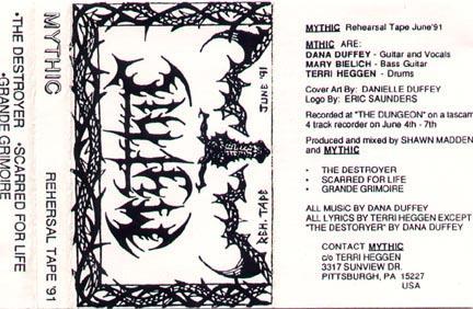 Mythic - Rehearsal Tape 1991