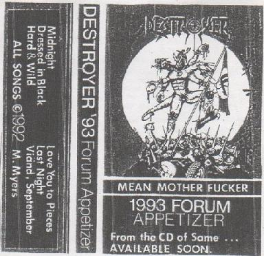 Destroyer - Mean Motherfucker '93 Forum Appetizer