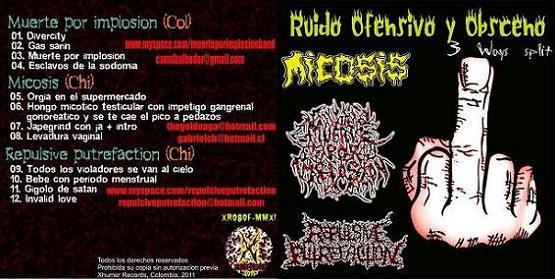 Muerte por Implosion / Micosis / Repulsive Putrefaction - Ruido ofensivo y obsceno