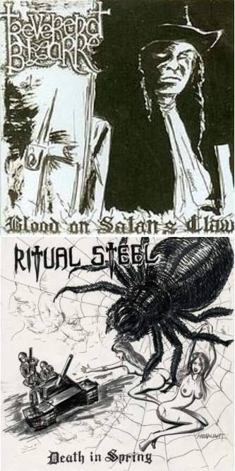 Reverend Bizarre / Ritual Steel - Blood on Satan's Claw / Death in Spring