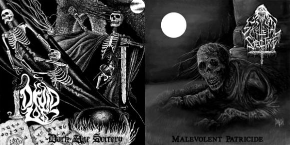 Skeletal Spectre / Druid Lord - Dark Age Sorcery / Malevolent Patricide