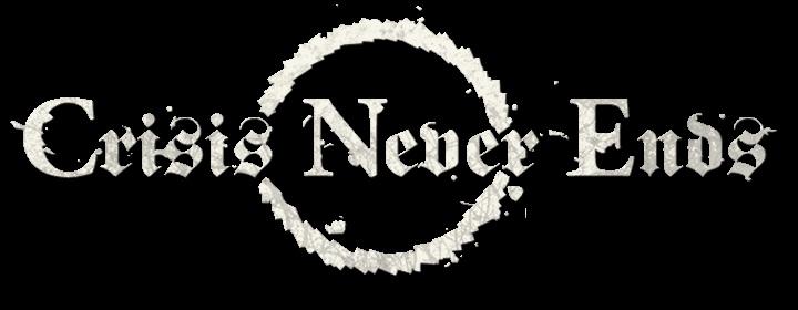 Crisis Never Ends - Logo