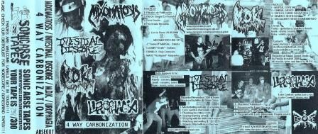 Intestinal Disgorge / Mixomatosis / M.D.K. / Urophagia - 4 Way Carbonization