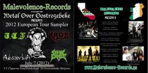 Kaos / Septic Christ / Absentia / T.C.F. - 2012 European Tour Sampler