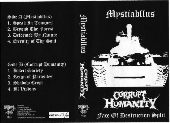 Mystiabllus / Corrupt Humanity - Face of Destruction