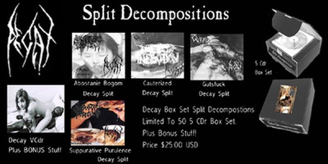 Decay / Cauterized / Abosranie Bogom - Split Decompositions