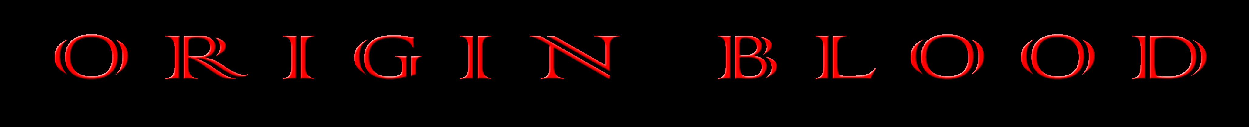 Origin Blood - Logo