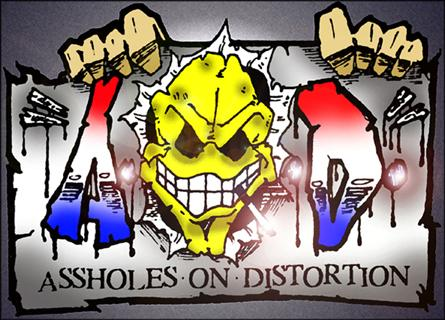 Assholes on Distortion - Logo