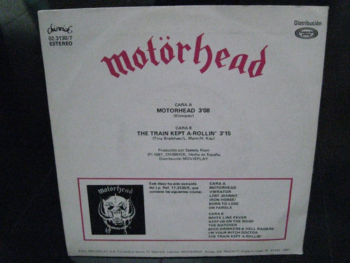 Motörhead - Motorhead / The Train Kept A-Rollin'