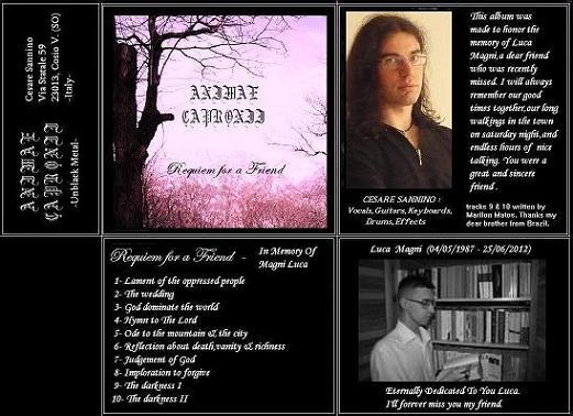 Animae Capronii - Requiem for a Friend