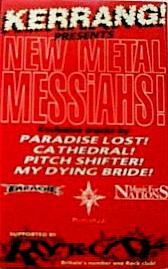 My Dying Bride / Paradise Lost / Cathedral / Pitchshifter - New Metal Messiahs!