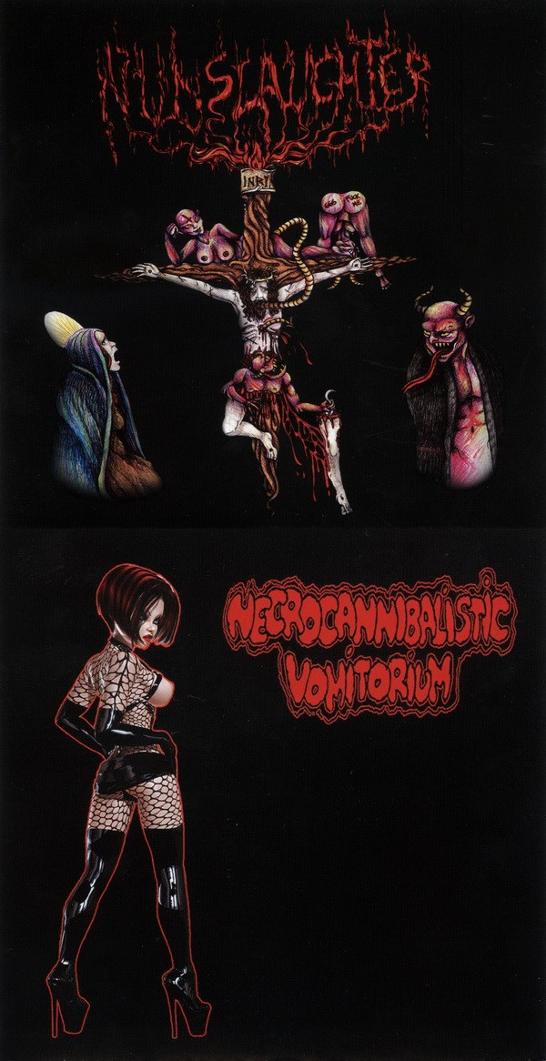 Nunslaughter - Nunslaughter / Necrocannibalistic Vomitorium