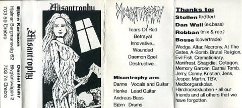 Misantrophy - Misantrophy