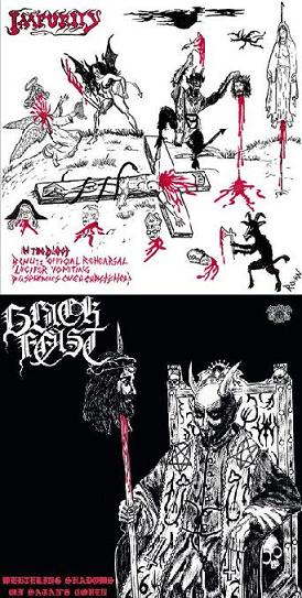 Impurity / Black Feast - Weltering Shadows of Satan's Coven / In the Blood...