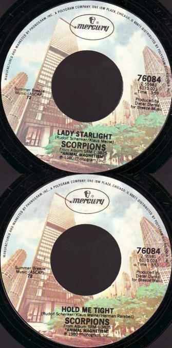 Scorpions - Lady Starlight / Hold Me Tight