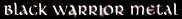 Black Warrior Metal - Logo