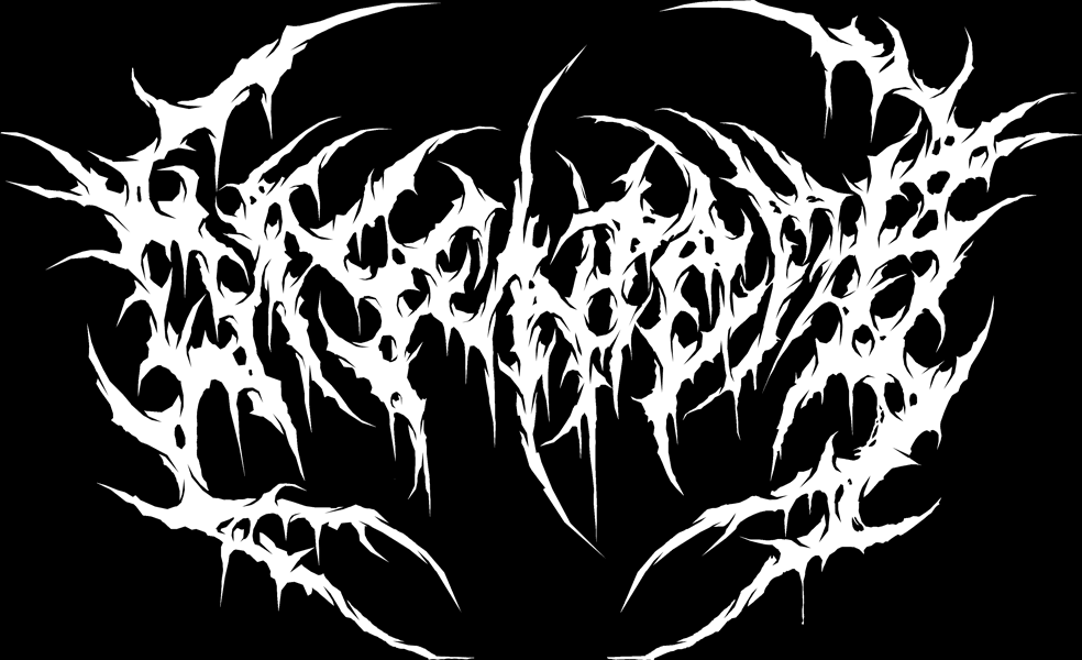 how to draw a death metal logo