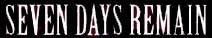Seven Days Remain - Logo