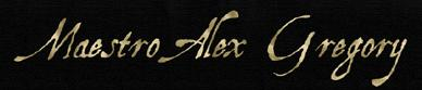 Maestro Alex Gregory - Logo