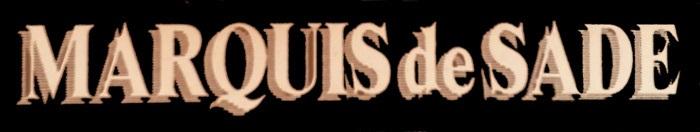 Marquis de Sade - Logo