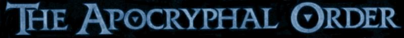 The Apocryphal Order - Logo