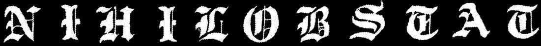 Nihilobstat - Logo