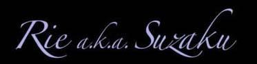 Rie a.k.a. Suzaku - Logo