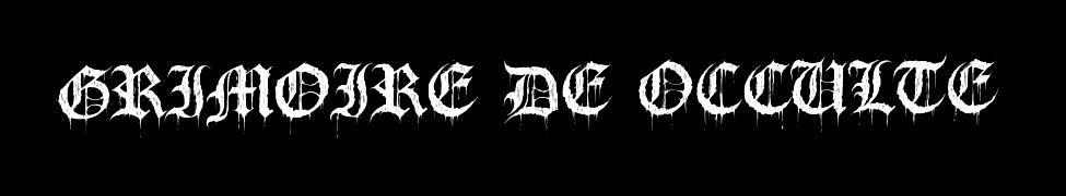 Grimoire de Occulte - Logo