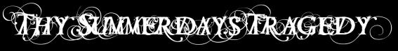 Thy Summerdays Tragedy - Logo