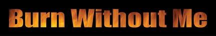 Burn Without Me - Logo