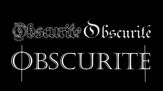 Obscurité - Logo