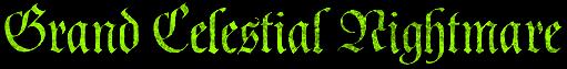 Grand Celestial Nightmare - Logo