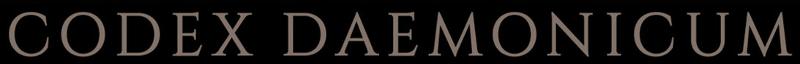 Codex Daemonicum - Logo