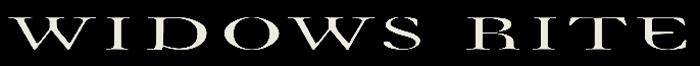 Widows Rite - Logo