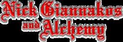 Nick Giannakos and Alchemy - Logo