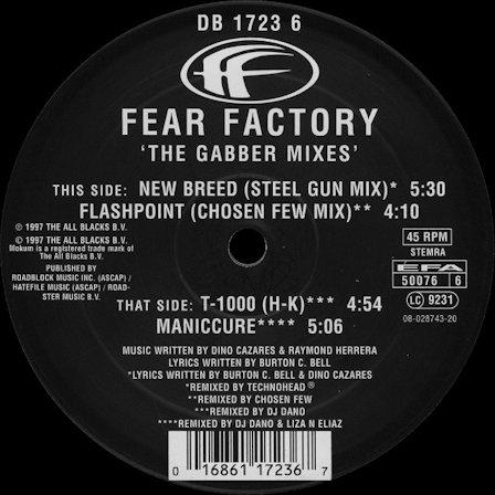 Fear Factory - The Gabber Mixes