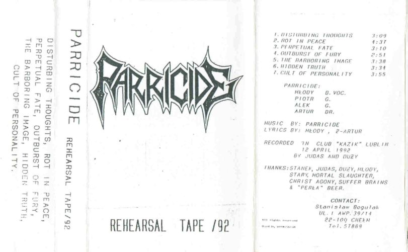 Parricide - Rehearsal Tape '92